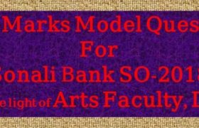 bank model question for sonali so