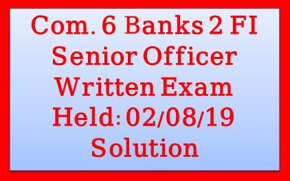 6 Banks 2 Financial Institutions Combined Written Test-2019, combined 6 bank and 2 finalcial institution question solution,6 bank and 2 financial institutions exam mcq question solutions-full part,important international institutions,lic aao mains financial management,banking and financial awareness,components of financial system in hindi,financial assets,financial management mcq,financial market elements,financial valuation,financial awareness, combined 8 bank senior officer question solution,combined 8 bank senior officer question solution 2019,combined 8 bank senior officer mcq exam question solution 2019,combined 8 bank,combined 8 bank mcq exam question solution 2019,combined 8 bank senior officer exam 2019 mcq solution,combined 8 bank senior officer exam,combined 8 bank senior officer written math solution
