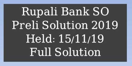 Rupali Bank Senior Officer Preli 2016, Rupali Bank (RBL) Officer MCQ Exam Result 2019, Rupali Bank (RBL) Officer MCQ Exam Question Solution 2019, Rupali Bank Officer Exam Question Solution 2019, Rupali Bank Limited Exam Result & Written Date 2019, rupali bank senior officer question solution 2019,rupali bank mcq exam question solution,combined 8 bank mcq exam question solution 2019,bank senior officer mcq full question solution 2019,rupali bank officer cash exam mcq math solution,bank question solution,rupali bank exam question solution 2018,rupali bank exam question solution,combined 4 bank officer question solution 2019