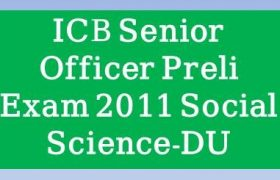 ICB Senior Officer Preli Exam 2011 Solution